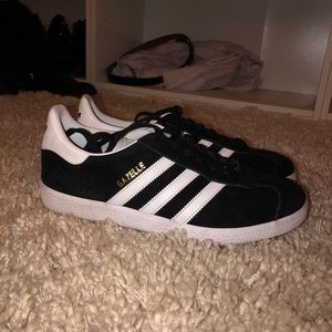 Adidas Black & White Gazelle Sneakers Size 8